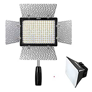 YONGNUO YN-160 III YN 160 III Pro LED Video Light with 3200-5500K Color Temperature Adjustable Brightness 2 CT Filters for Canon Nikon DSLR Camera DV and Camcorder with TARION Diffuser