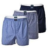 Polo Ralph Lauren Herren Shorts 3 Pack, Webboxershorts, Open Boxer - Marine/Blau: Größe: S (Gr. Small)