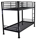 Strictly Beds Black Bunk Bed - 3ft single metal bunkbed - Can be used by adults - VERY STRONG
