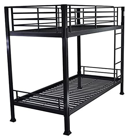 Black Bunk Bed - 3ft single metal bunkbed - Can