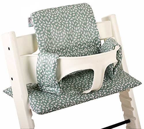 Coussin chaise haute Stokke Tripp Trapp Set ♥ Feuilles Vert menthe ♥ Facile à nettoyer