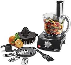 Cello Kitchen Chef KC-FP-100 400-Watt Food Processor (Black and Transparent)