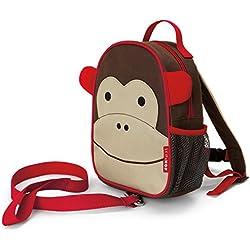 Skip Hop Zoo Safety Harness Monkey - school bags (Backpack, Any gender, Toddler & preschool, Beige, Brown, Red, Image, Mesh pocket)