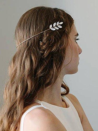 utschmuck Gold Grecian Haar Vine Strass Hochzeit Haar-Accessoires für Braut und Brautjungfer (Halloween-vine-make-up)