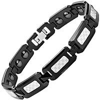 Willis Judd Mens Black Polished Tungsten Magnetic Bracelet with Silver Carbon Fibre In Free Black Velvet Gift... preisvergleich bei billige-tabletten.eu