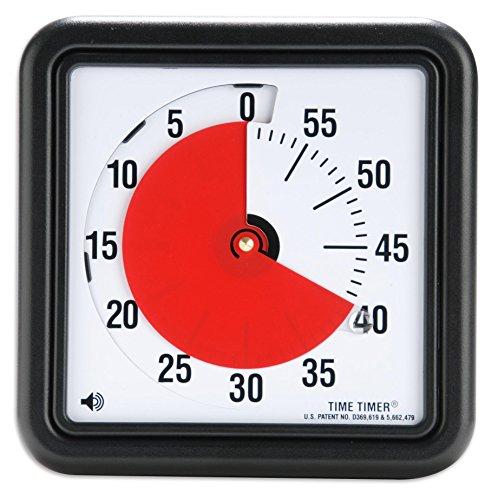 Time Timer, klein, 18 x 18 cm - Kurzzeitwecker Lernuhr lernen Schule Grundschule