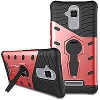 Custodia Asus Zenfone 3 Max ZC520TL Case, Viflykoo HEAVY DUTY Custodia Protettiva Rigida con Supporto Rotazione di 360 Gradi Cover per Asus Zenfone 3 Max ZC520TL Smartphone - Rosso