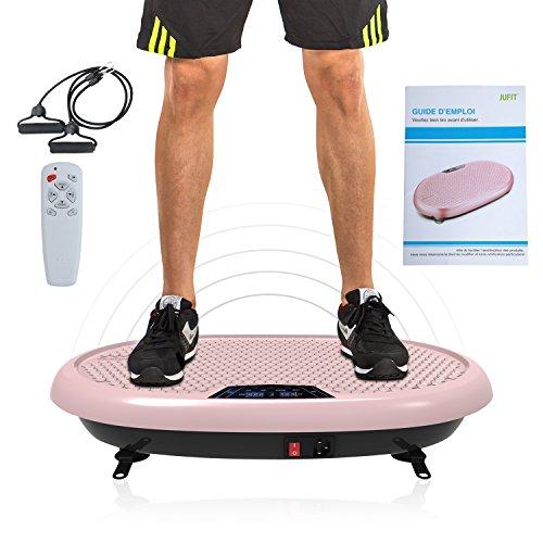 JUFIT Shaper Vibrationsplatte Trainingsgerät mit Fernbedienung, Großer rutschsicheren Trainingsfläche, 199 unterschiedliche Geschwindigkeiten