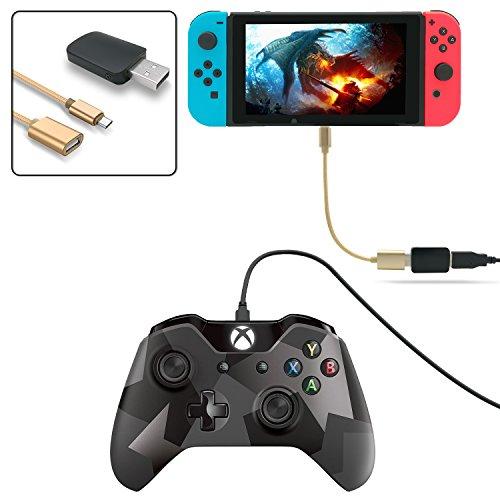 fastsnail Controller Konverter für Nintendo Switch, Macht PS3/PS4DUALSHOCK/Xbox 360/Xbox One Controller Kompatibel mit Ihrem Schalter, unterstützt Vibration, mit der U89OTG Kabel (Macht Ein Controller-xbox 360)