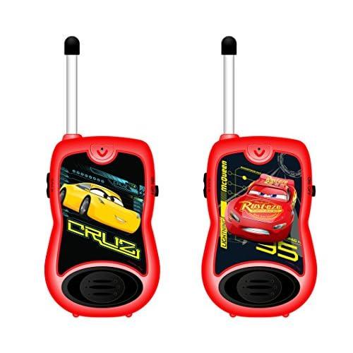 Cars- Disney Par de Walkie Talkies, Rango de 100 Metros, Color Rojo (Lexibook TW12DC) 2