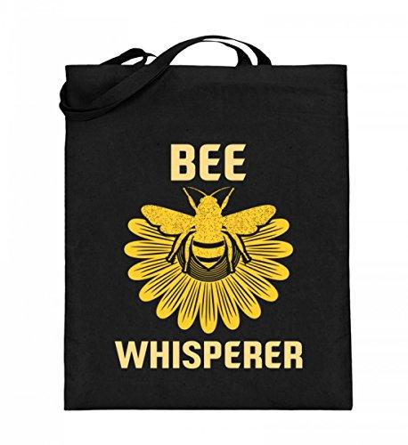 Hochwertiger Jutebeutel (mit langen Henkeln) - Bee Whisperer -