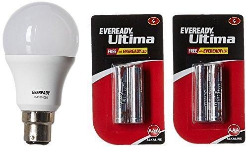 Eveready Base B22D 9-Watt LED Bulb (Pack of 1, Cool Day Light)