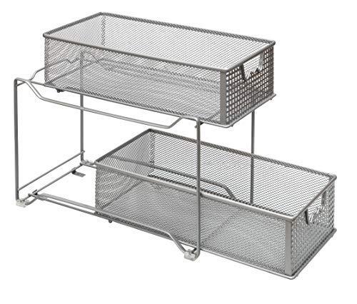 Amtido - Organizador armario 2 niveles cocina, armario