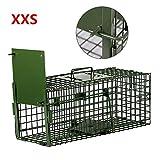 Yaheetech Trampa para Animales Vivos Jaula para Zorro Conejo Gatos 55x19x21,5cm