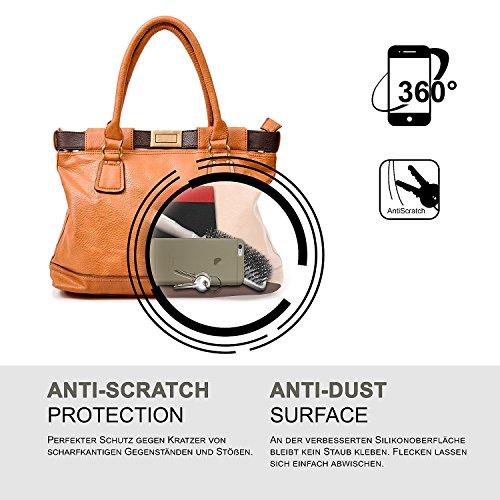 iPhone 7/8 Plus Hülle Silikon Transparent Klar [OneFlow Clear Back-Cover] TPU Schutzhülle Dünn Handyhülle für iPhone 7/8 + Plus Case Ultra-Slim Silikonhülle Rückseite ANTHRACITE-GRAY