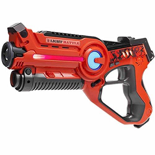 Light Battle Active Laser Tag Pistole Orange - Lasertag Spielzeugpistole für Kinder - LBA102