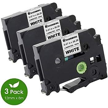 3x Schriftband für Brother TZ-131 P-Touch PT E100 H100R H105 D200 H300 1000 1010