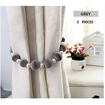 1 Pair (2 Pcs) Of Curtain Tieback Curtain Holdbacks Rope Tieback Curtain  Tie Back Curtain Holdbacks For Curtain   Sold Per 1 Pair (Grey)