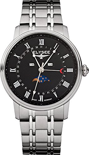 ELYSEE Made in Germany Monumentum Moon 77003 41mm Silver Steel Bracelet & Case Synthetic Sapphire Men's Watch