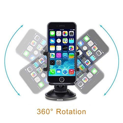 Handyhalterung Auto TaoTronics KFZ Handyhalter Halterung Universal für Smartphone Galaxy s6, s5, s7 edge, Iphone 6, 6s, 6s plus, 5, 5s Lumia, G5, Z6 usw. -