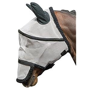 Harry's Horse Fliegenschutzmaske B-Free Fliegenschutz Kopf weiß/schwarz