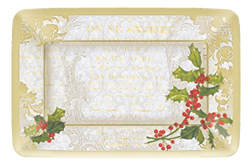 Ideal Home Reihe, Ply CAFE DINNER PLATES HOLLY COLLAGE-GOLD Gold Holly