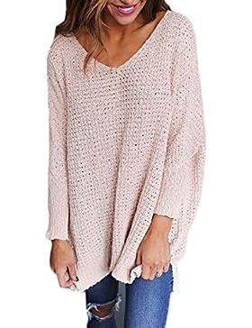 Jerseys de Punto Mujer Sueter Tejido Señora Suéter Mujeres Jersey Oversize Largo Sweaters Largos Sueteres Tejidos...