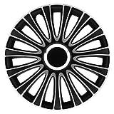 Petex RB543515 Radzierblende LeMans Pro Größe 15 Zoll 2-fach lackiert Material: ABS in Box, schwarz - 4-er Set