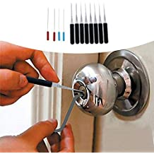 Calistouk Juego de ganzúas cerrajero mango herramientas Extractor de llaves rotas quitar Auto clave Set