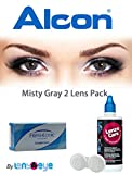 #9: Alcon Freshlook COLORS Monthly Misty Gray Color Contact Lenses with Free Lens Care Kit (2 Lens Pack) By Lens4Eye