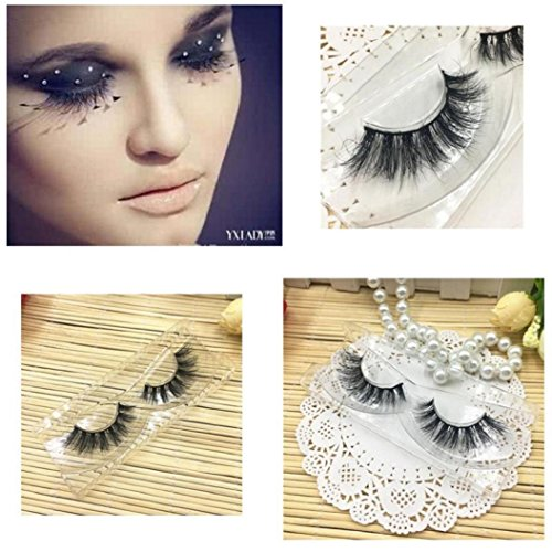 False Eyelashes  Wawer 1 Pair Luxury 3D Fluffy False Lashes  Long Feather Natural Fake Eye Lashes Professional Makeup Handmade Lashes Crisscross Messy Extension Tools Cosmetic For Party Club  Black