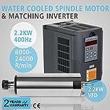 FurMune Spindelmotor Wasserkühlung 2.2KW Motor Und Passendem 2.2KW Inverter Für VFD (2.2kw Water Cooled+2.2kw VFD)