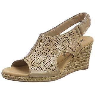 Clarks Women's Lafley Rosen Sling Back Sandals, Beige (Sand-), 5 UK