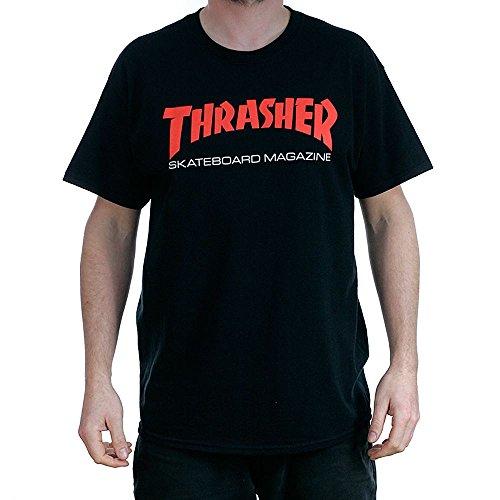 THRASHER HOODIE TWO-TONE SKATE MAG BLACK