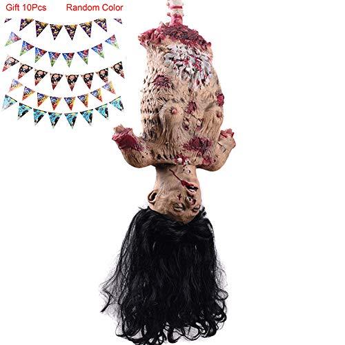 Hallow Deco Gruselige Leiche Aufhängen,Halloween-Zombie-Dekoration für Zuhause, Horror-Themenbar,Karnevalsfeier (Leiche Halloween Dekoration)