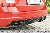 Rieger Heckeinsatz Carbon-Look für Skoda Octavia RS (5E) Diesel: 06.13-01.17 (bis Facelift), 02.17- (ab Facelift) mit Anhängerkupplung