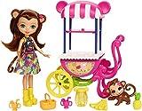 Enchantimals Carrello della Frutta Merit La Scimmietta, Playset con Bambola e Accessori, FCG93