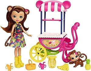 Enchantimals Carrito de Frutas, accesorios muñecas (Mattel FCG93)