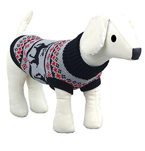 Gwood Neue Herbst/Winter-Tier-Kostüm Hund-Pullover Marine Bow-Haustier-Pullover Sweaters für VIP Bichon Pommerschen Chihuahua Dog (Blau Hirsch, XS) - 2
