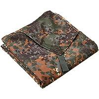 Multipurpose Tarpaulin Bivvy Shelter / Ground Sheet in Black, Green, Flecktarn, Woodland & Arid Woodland Camouflage