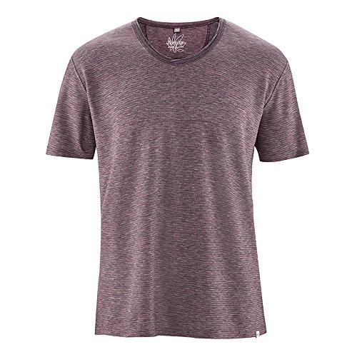 HempAge Herren T-Shirt Hanf/Bio-Baumwolle Wintersky/Tomato/Natur