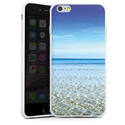 Apple iPhone X Silikon Hülle Case Schutzhülle Horizont Meer Urlaub Silikon Case weiß