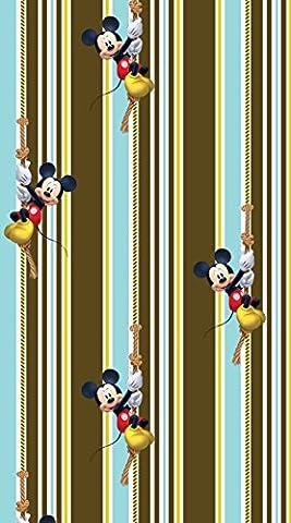 AG Design FCCL 4144 Disney Mickey Mouse, Kinderzimmer Gardine/Vorhang, 1 teil, Stoff, mehrfarbig, 140 x 245 cm
