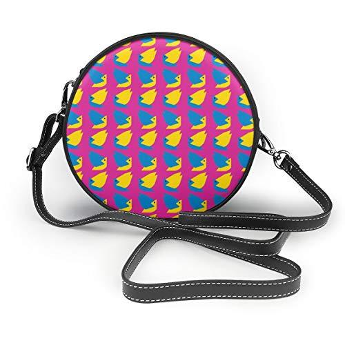 Handbags For Women,Birdies In The Hot Pink Sky PU Leather Shoulder Bags,Tote Satchel Messenger Bags