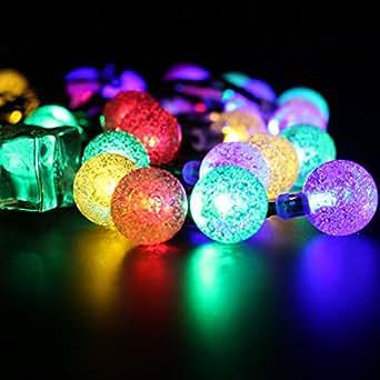 Luce Solare BOHMAIN 4.5m 30 LEDs Variopinta Impermeabile Lampadina LED ...