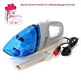#9: Buy 12V Car Vehicle Interior Auto Truck Wet Dry Portable Handheld Vacuum Cleaner With Get 5 in 1 Face Beauty Massager Free-Cloudmall