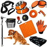 Puppy Starter Kit - 16pc Puppy Supplies & Dog Essentials. Matching New Puppy Accessories . Lots of New Puppy Stuff. Toys, Dog Bed Blanket, Lick Mat, & More. Kit for Small Dogs & Large Puppies