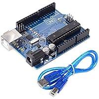 Morza EL-CB-001 UNOR3 Vorstand ATmega328P ATMega16U2 Elektronikmodul und USB-Kabel Kompatibel für Arduino