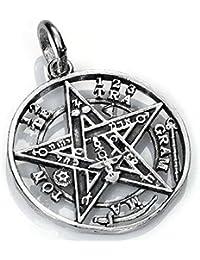 Colgante Tetragramaton plata. (varios tamaños)
