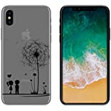 yayago Schutzhülle für Apple iPhone X Tasche iPhone X Hülle Ornament Motiv Love Tattoo Transparent